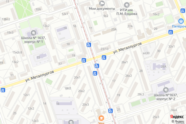 Ремонт телевизоров Улица 3 я Владимирская на яндекс карте