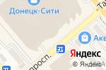 Схема проезда до компании Sommelier в Донецке