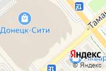 Схема проезда до компании Christina watches в Донецке