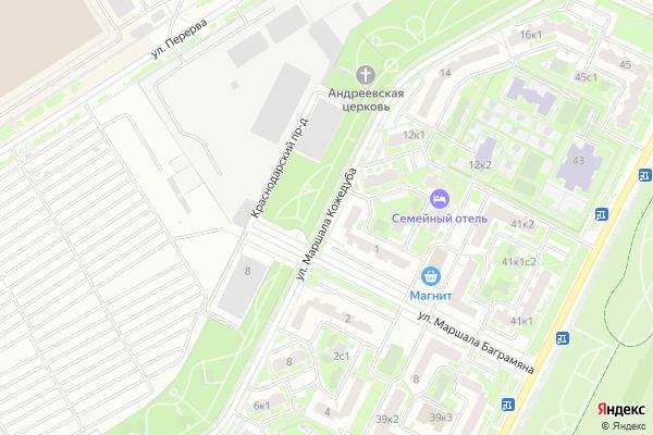 Ремонт телевизоров Улица Маршала Кожедуба на яндекс карте