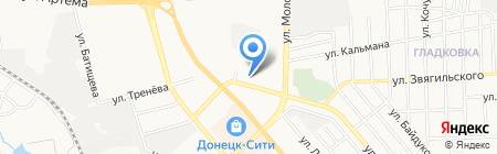 Нефтехимпродукт на карте Донецка