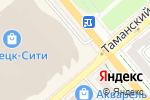 Схема проезда до компании Швейцарские часы в Донецке
