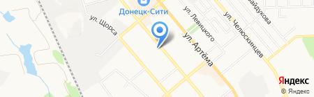 Фактория на карте Донецка
