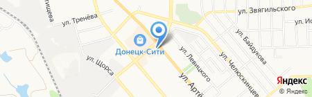 Банкомат МЕГАБАНК на карте Донецка