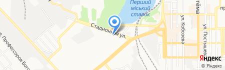 Пекин на карте Донецка