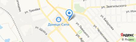 Гранд-Строй на карте Донецка