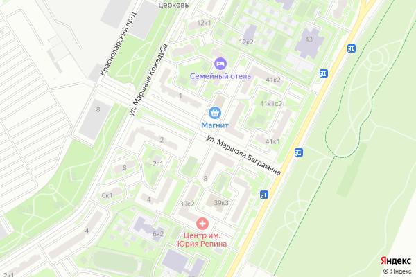 Ремонт телевизоров Улица Маршала Баграмяна на яндекс карте