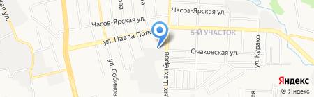 Строймеханизация на карте Донецка