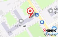 Схема проезда до компании РГУТиС в Черкизово