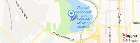 Ирбис на карте Донецка
