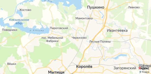 Черкизово на карте