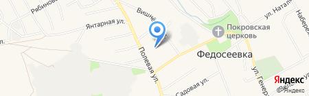 Яблочко на карте Федосеевки