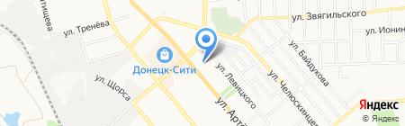 Донецкая недвижимость на карте Донецка