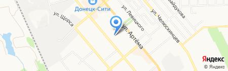 Евро-Дон на карте Донецка