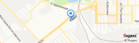 Теплоэнергетик на карте Донецка