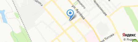 Универсал на карте Донецка