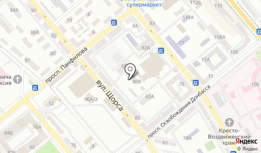 Verna. Схема проезда в Донецке