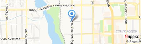 Планета климата на карте Донецка