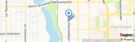 Медиа Люкс на карте Донецка