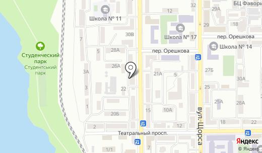Квартирное бюро. Схема проезда в Донецке
