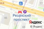 Схема проезда до компании Магазин постельных принадлежностей на Рязанском проспекте в Москве