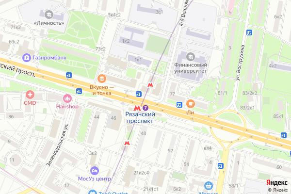 Ремонт телевизоров Метро Рязанский проспект на яндекс карте