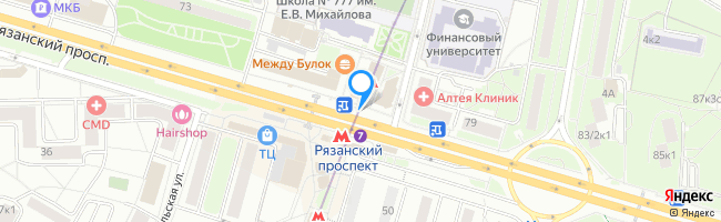 метро Рязанский проспект