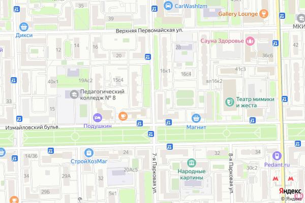 Ремонт телевизоров Улица 7 я Парковая на яндекс карте