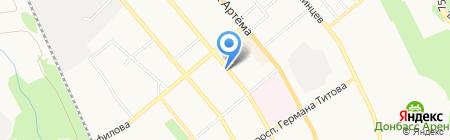 Киоск по продаже печатной продукции на карте Донецка