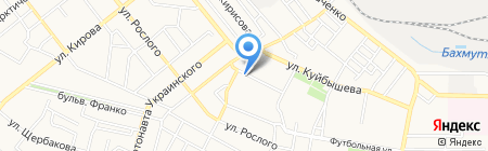 Укрстройматериалы на карте Донецка