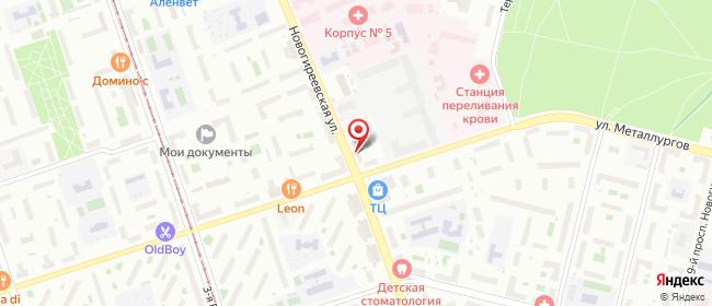 Карта расположения пункта доставки Москва Новогиреевская в городе Москва