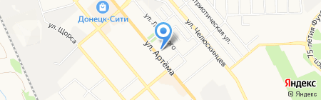 Гранд Тревел Тур на карте Донецка