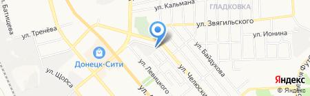 Країна на карте Донецка