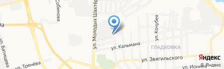 Кронас на карте Донецка