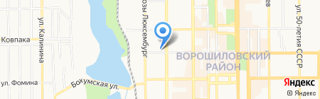 Гуляйполе на карте Донецка