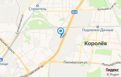 Местоположение на карте пункта техосмотра по адресу Московская обл, г Мытищи, ул Хлебозаводская, д 6