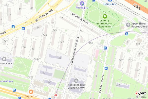 Ремонт телевизоров 4 й Вешняковский проезд на яндекс карте