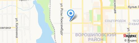 МЭТР на карте Донецка