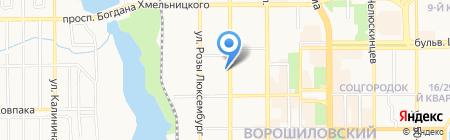 Нотариус Волкова О.В. на карте Донецка