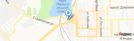 120\/80 на карте Донецка