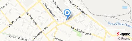 Дева-Лока на карте Донецка