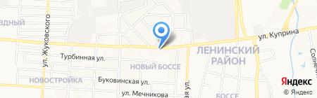 Вискус на карте Донецка