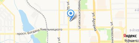 ТАНЛАР на карте Донецка