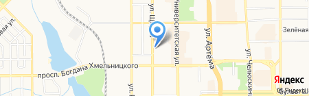 Ариста на карте Донецка