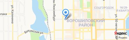 Creative Bar Фартовый на карте Донецка