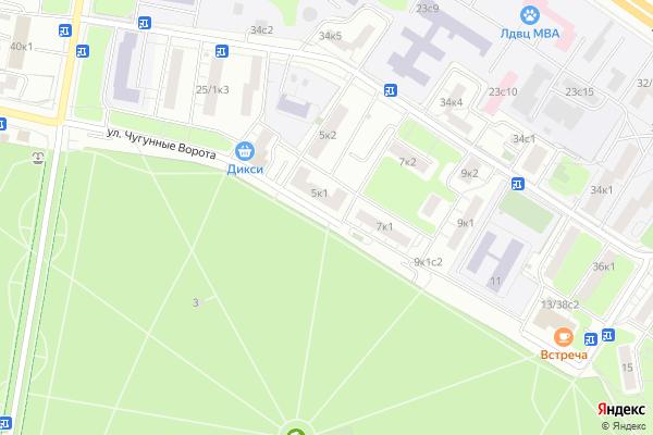 Ремонт телевизоров Улица Чугунные Ворота на яндекс карте