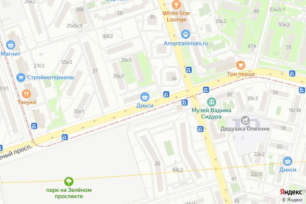 Ремонт телевизоров Зеленый проспект на яндекс карте