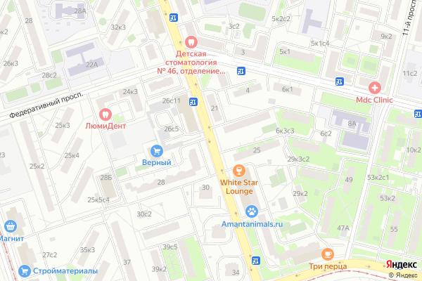Ремонт телевизоров Улица Новогиреевская на яндекс карте