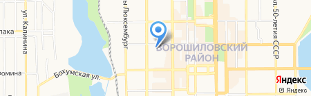 Принт Тайм на карте Донецка