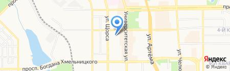 Позитив на карте Донецка